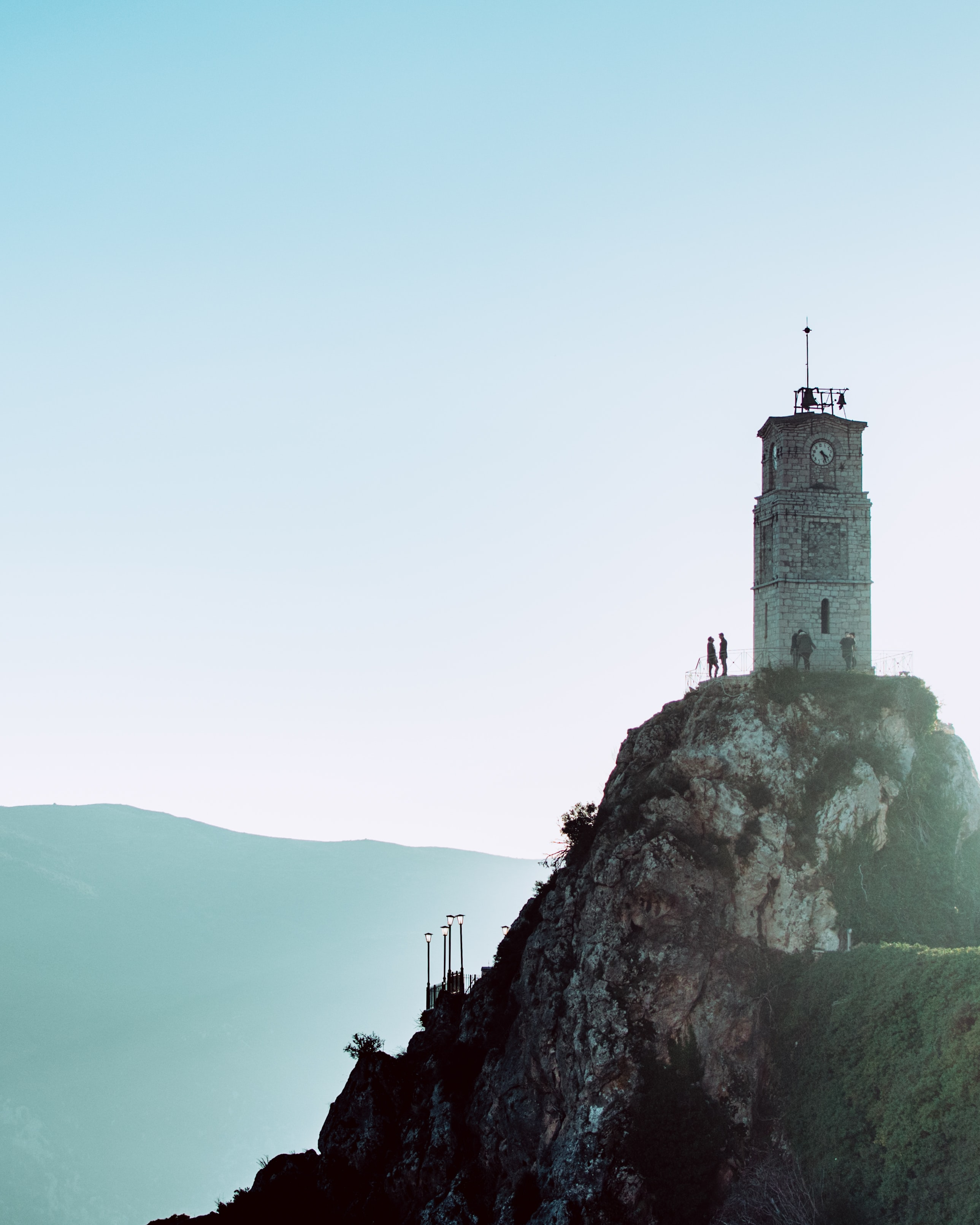 tower at the top of mountain