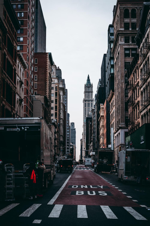 asphalt road of city