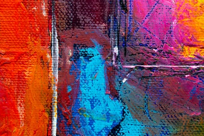 blue and red abstract paintinh expressionism zoom background