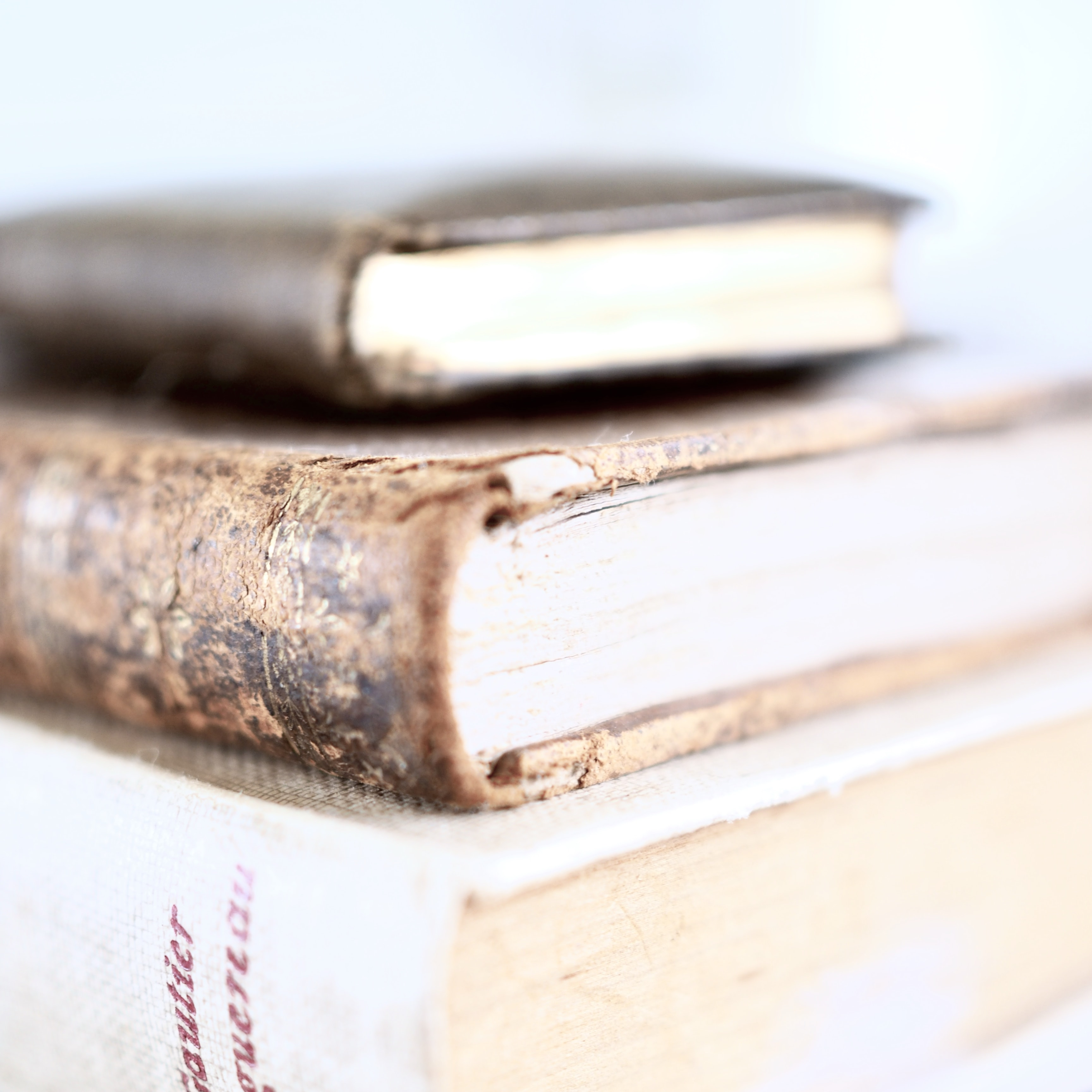 stacked hardbound books