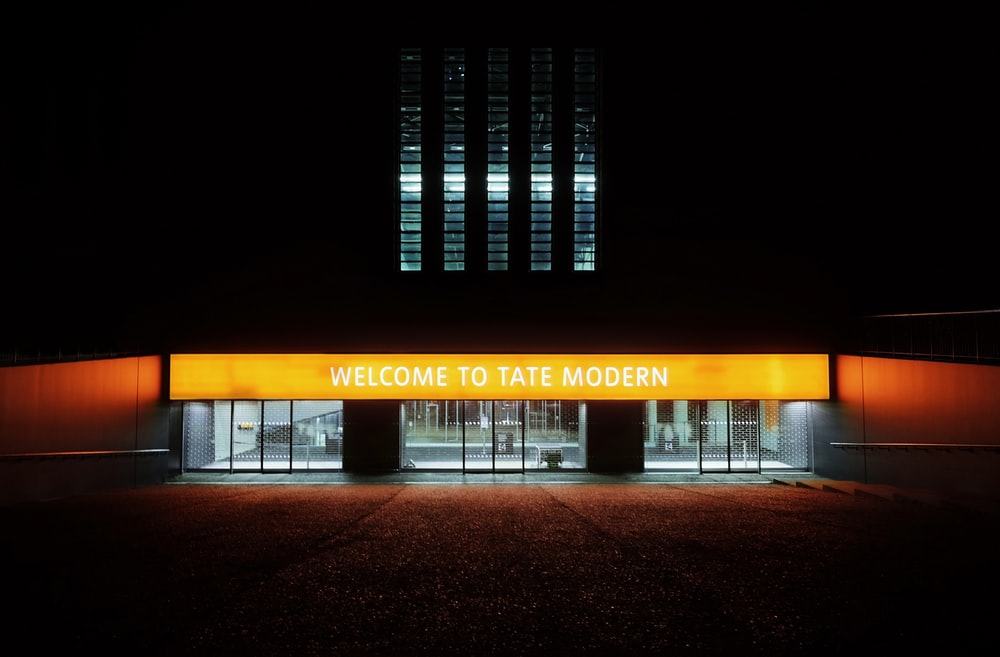 welcome to tate modern building