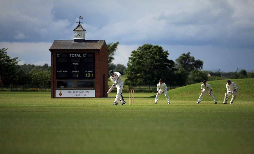 group of person playing cricket
