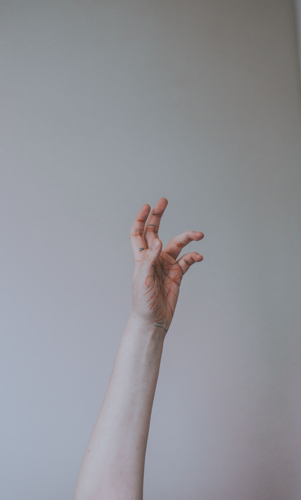 person left hand