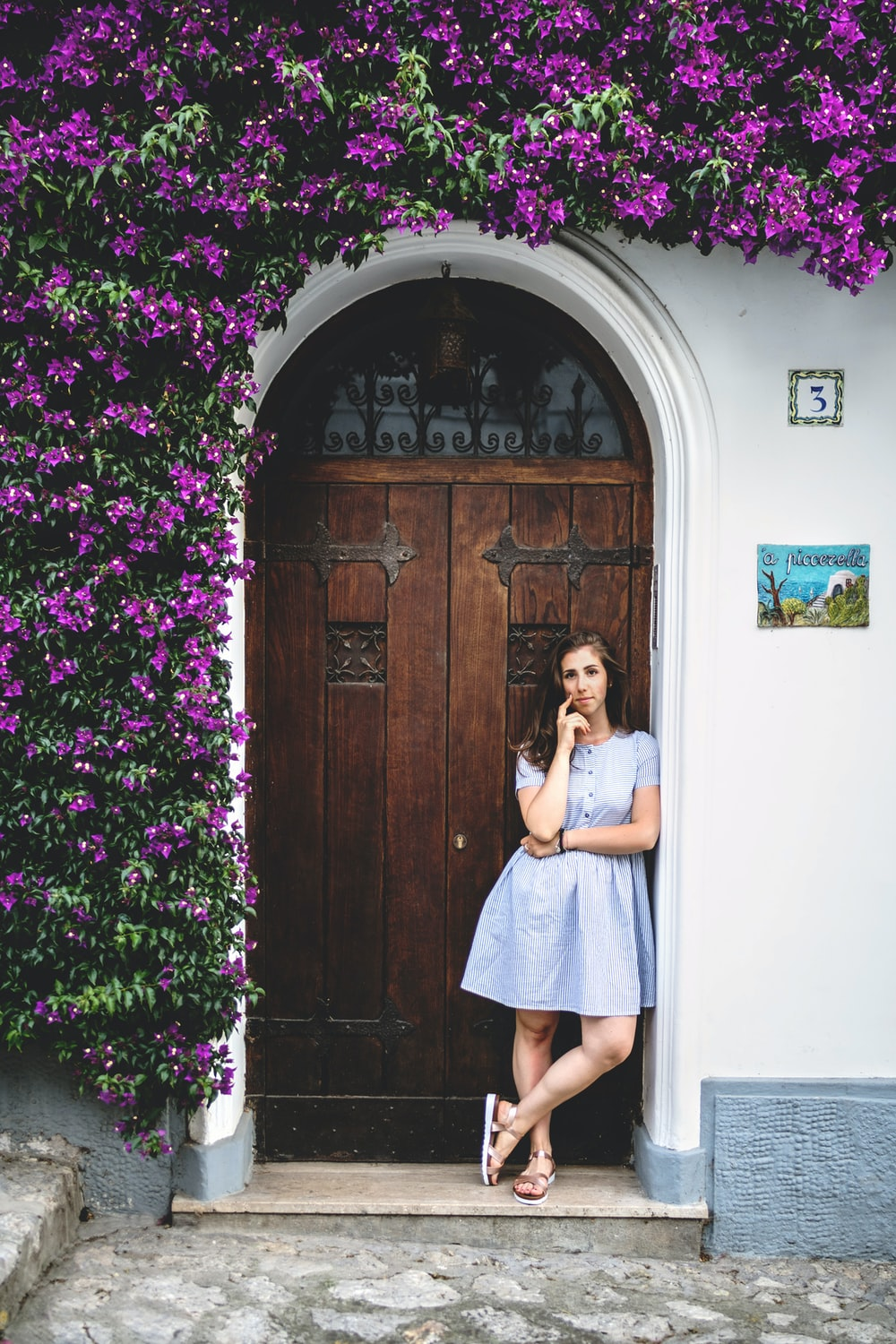 What special about Purple Island And Its Psychological Effect. Woman standing near closed door
