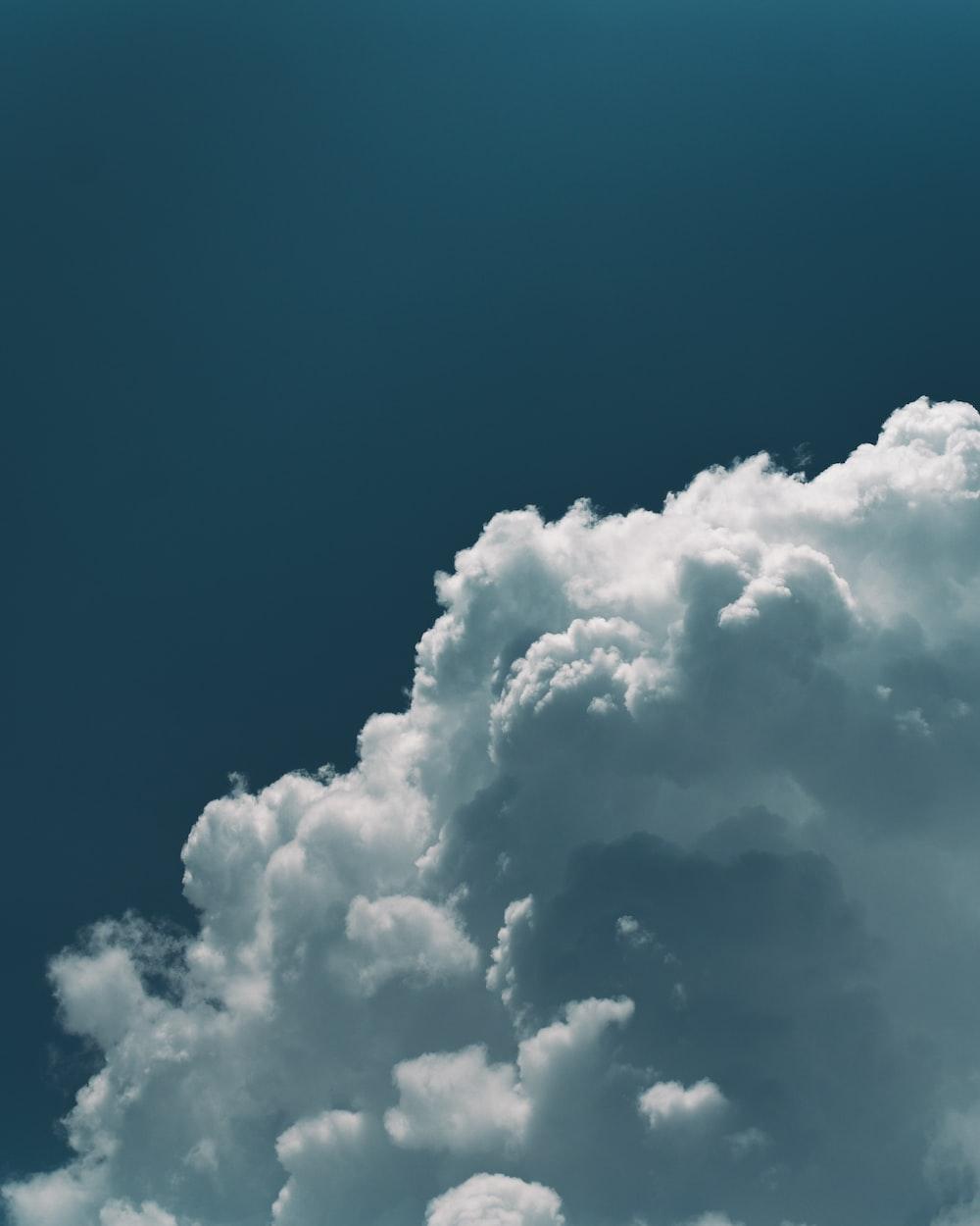 white nimbus clouds
