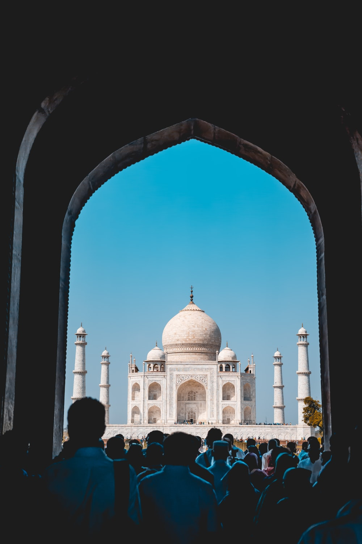 people going towards Taj Mahal, India during day