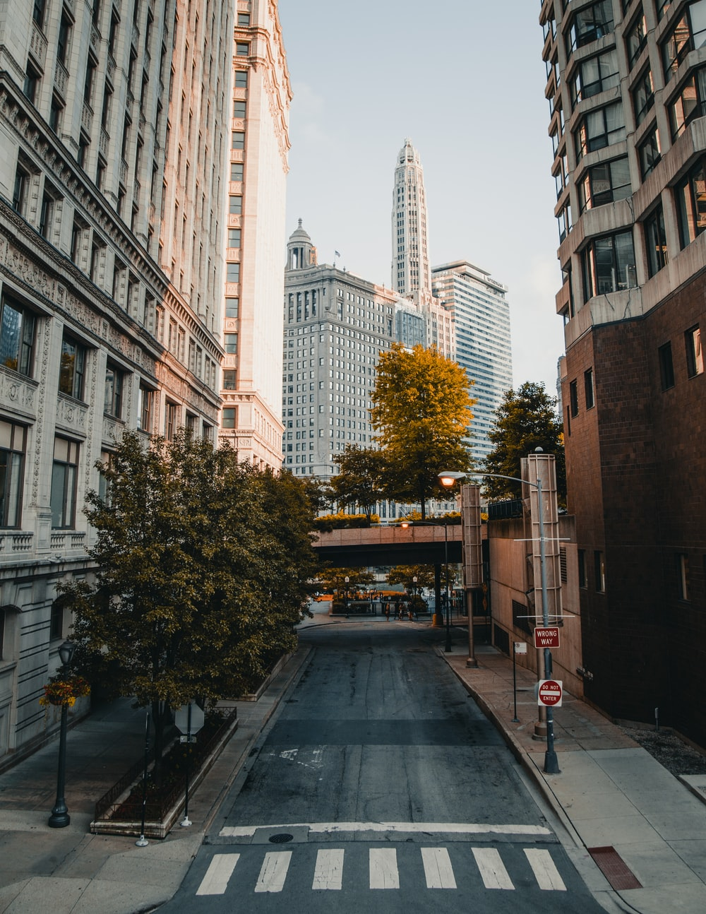 empty city streets during day