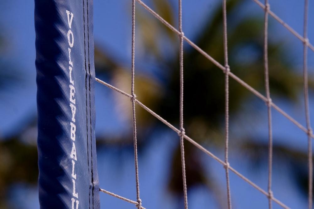 blue volleyball net
