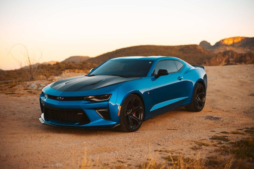 blue Chevrolet coupe