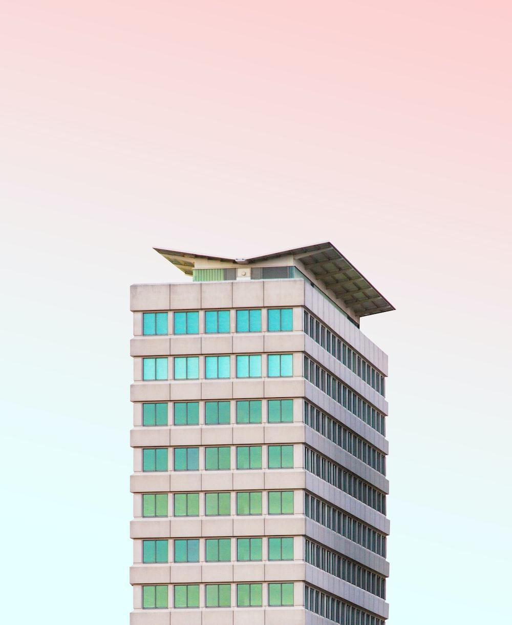 gray concrete building illustration