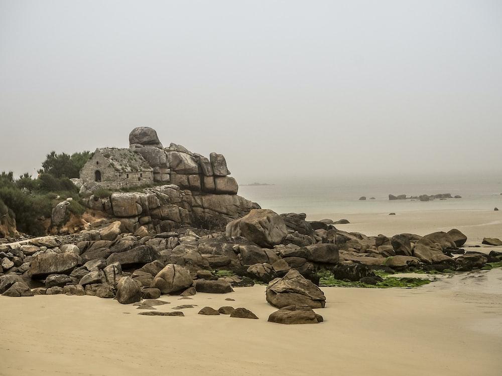 rock formation near beach