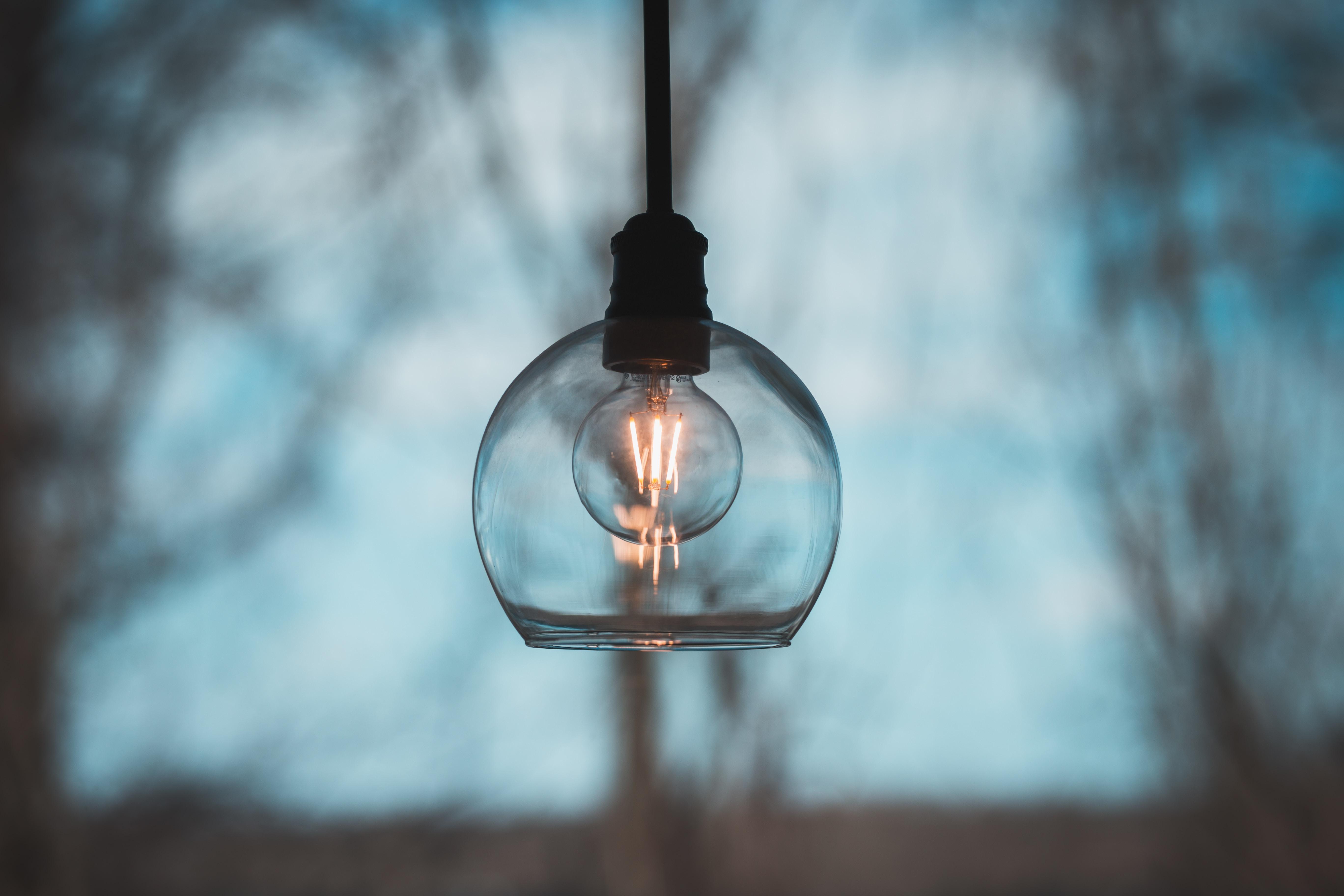 lighted pendant lamp