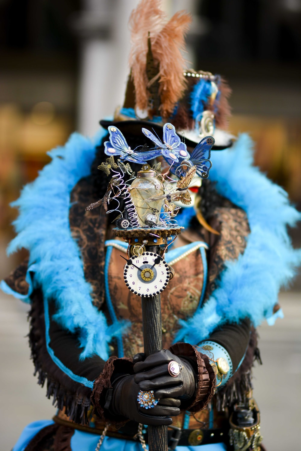 selective focus photography of person wearing costume