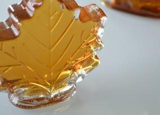 leaf shaped glass bottle