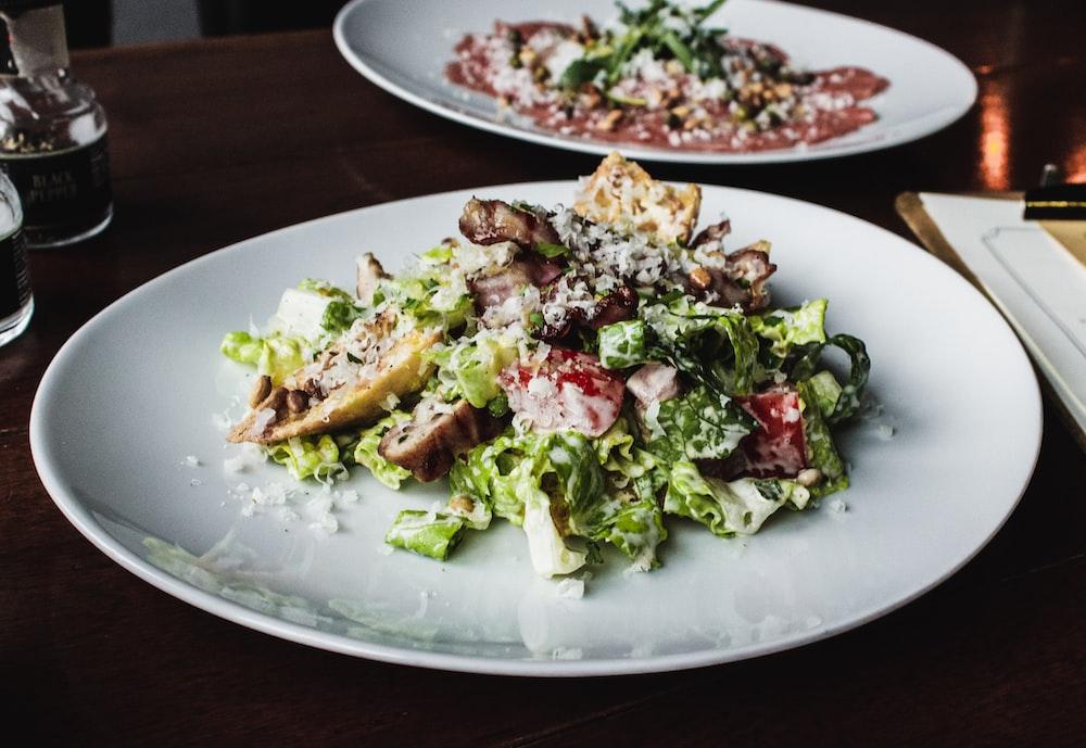 vegetable salad in plate