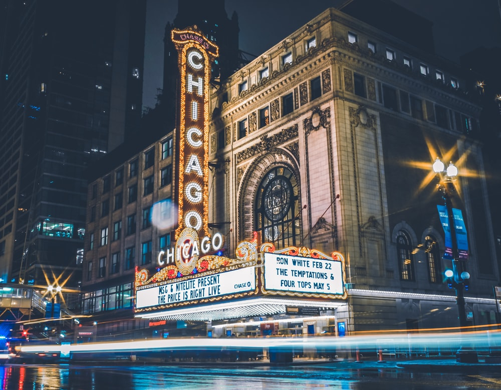 Chicago during nighttime