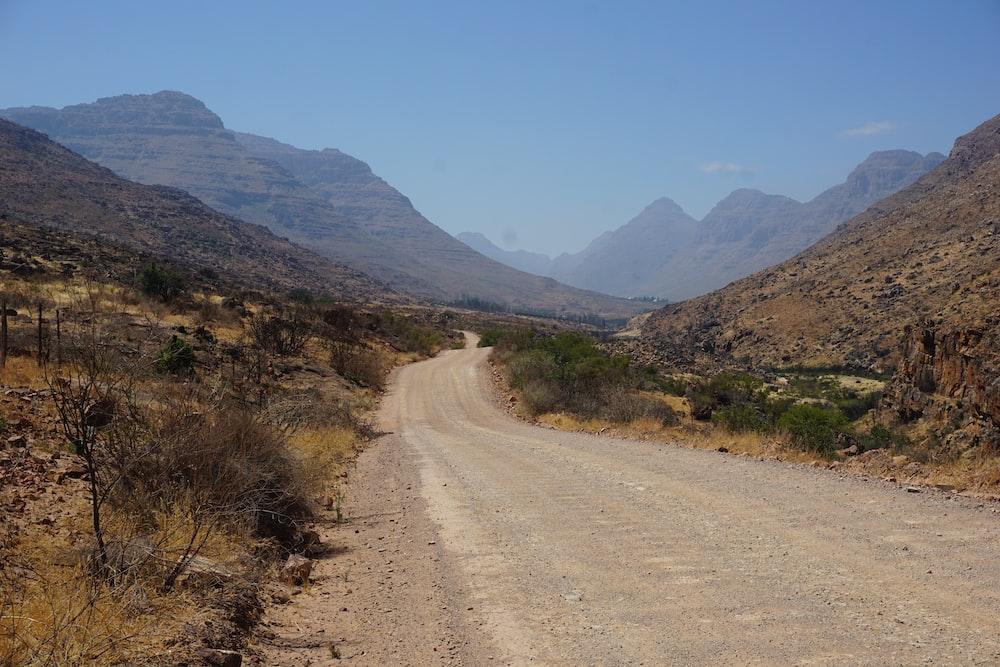empty road near mountian
