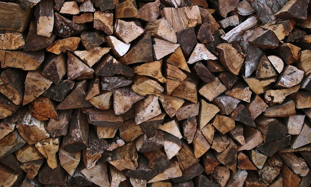 brown firewood lot