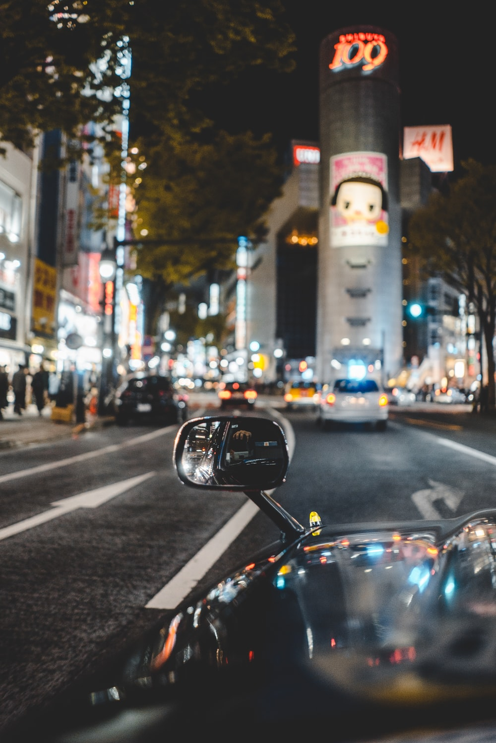 view of a road in Shibuya, Japan