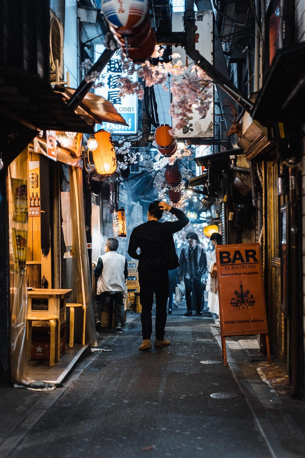 man in an alley