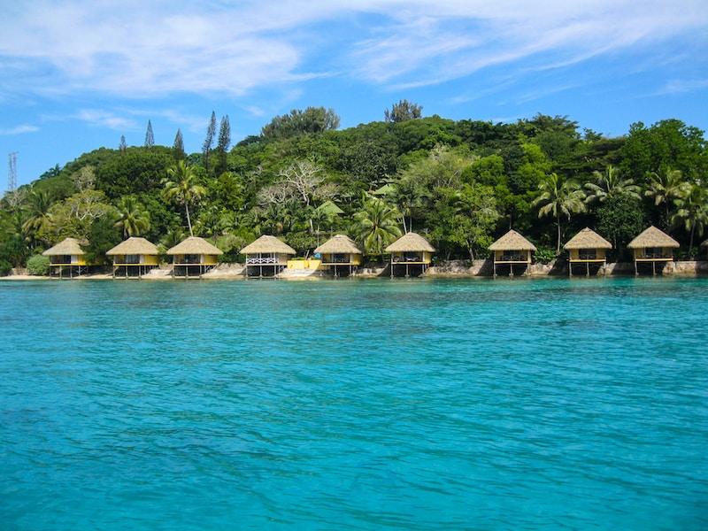 Coldest places in Vanuatu by minimum mean temperature