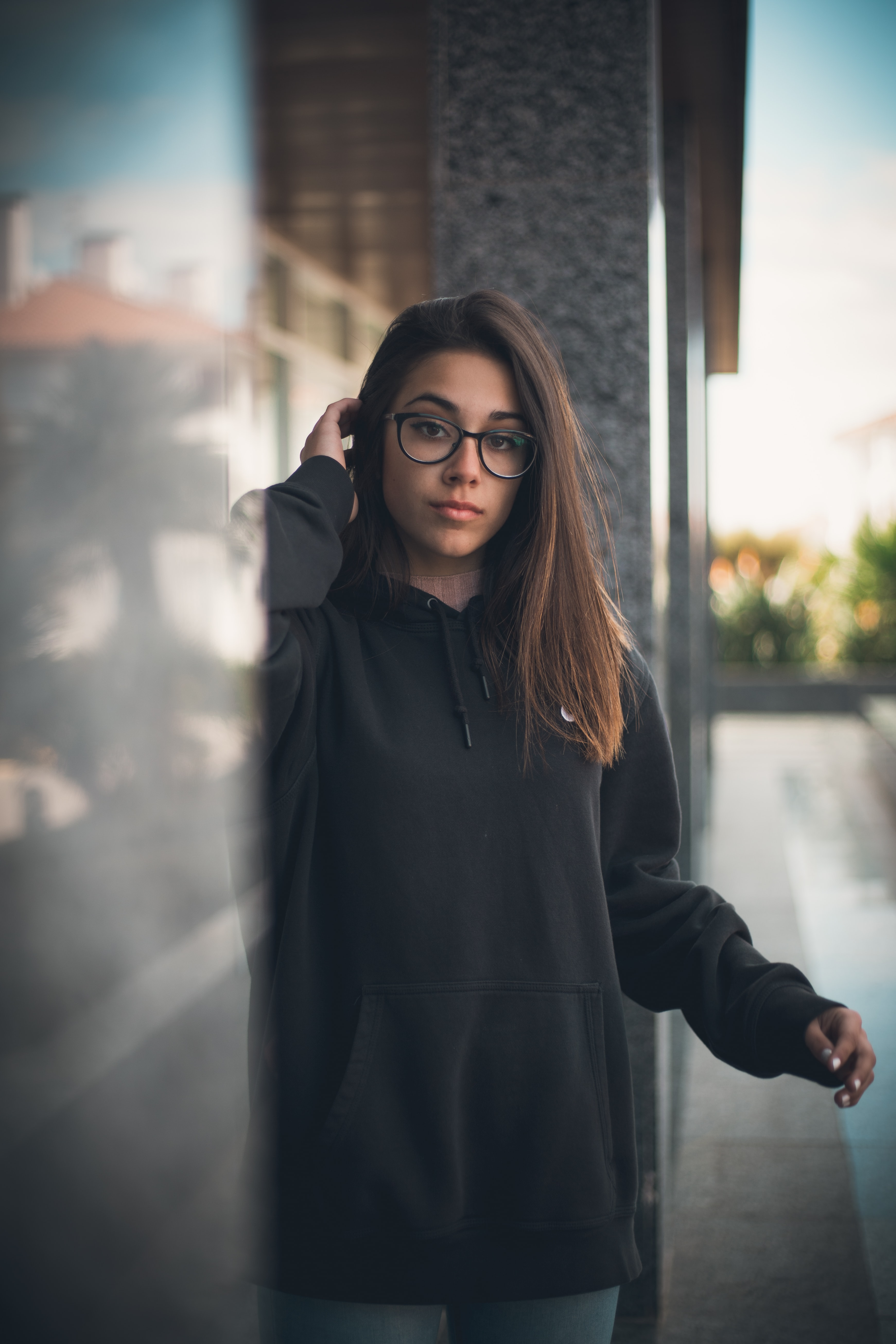 shallow focus photo of black pullover hoodie
