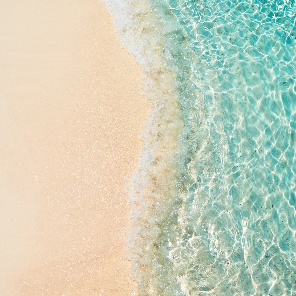 top-view photography of seashore