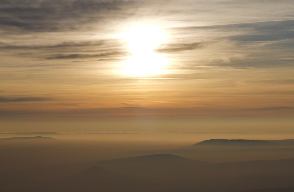 fogs above mountain