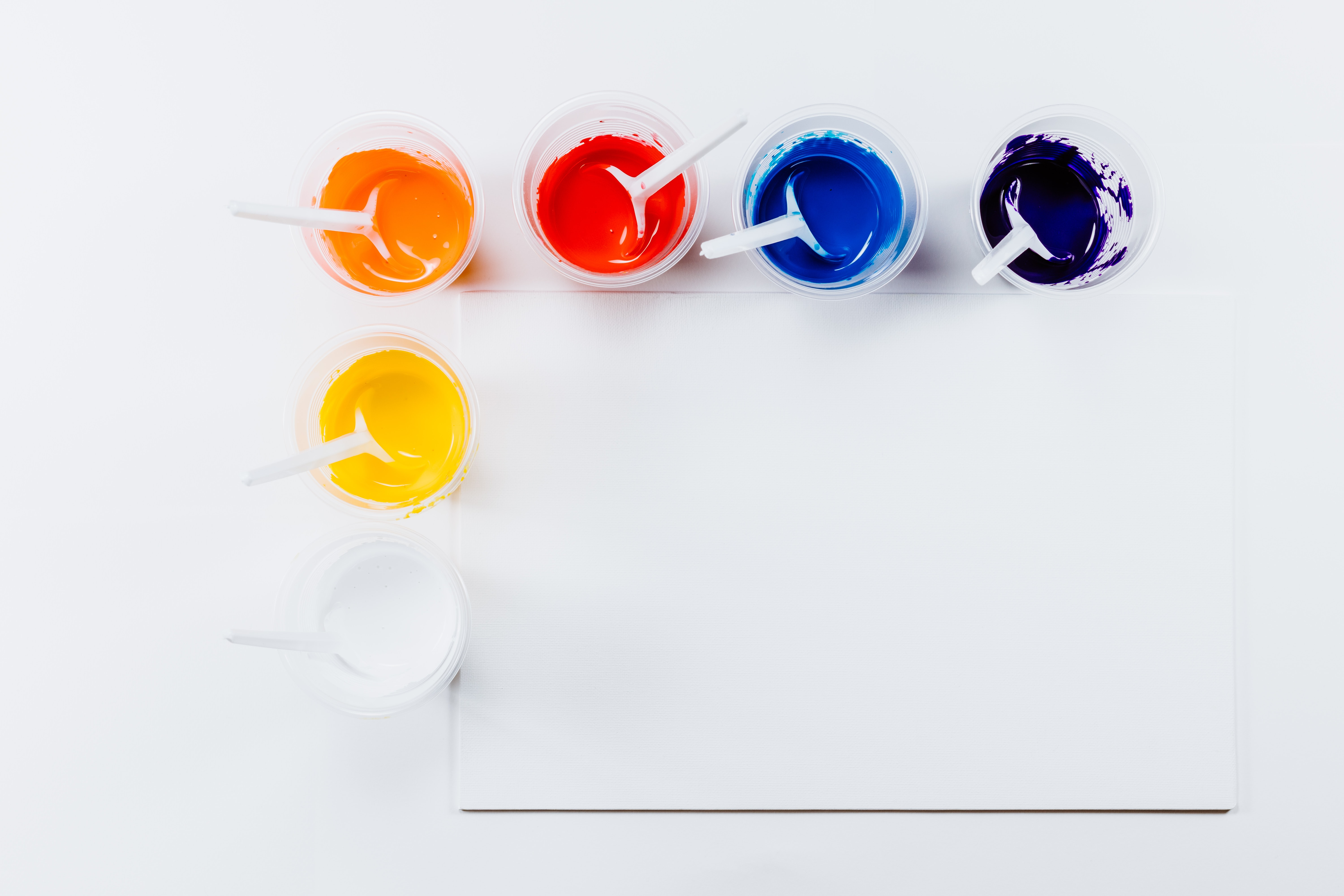 assorted-color paint