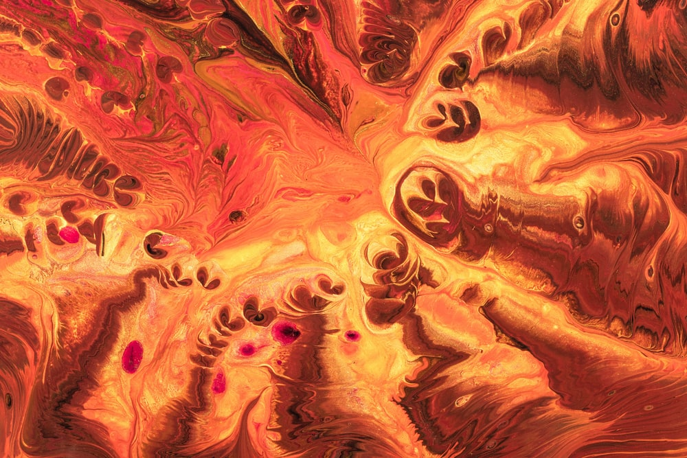 brown and orange abstract painting