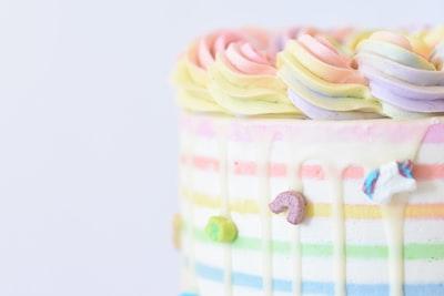 shallow focus photo of cake cake zoom background