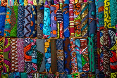 assorted-color textiles cote d'ivoire zoom background