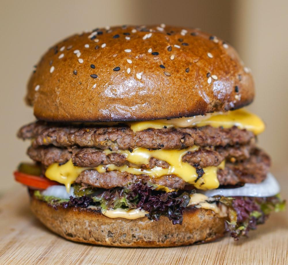 burger with patty dish