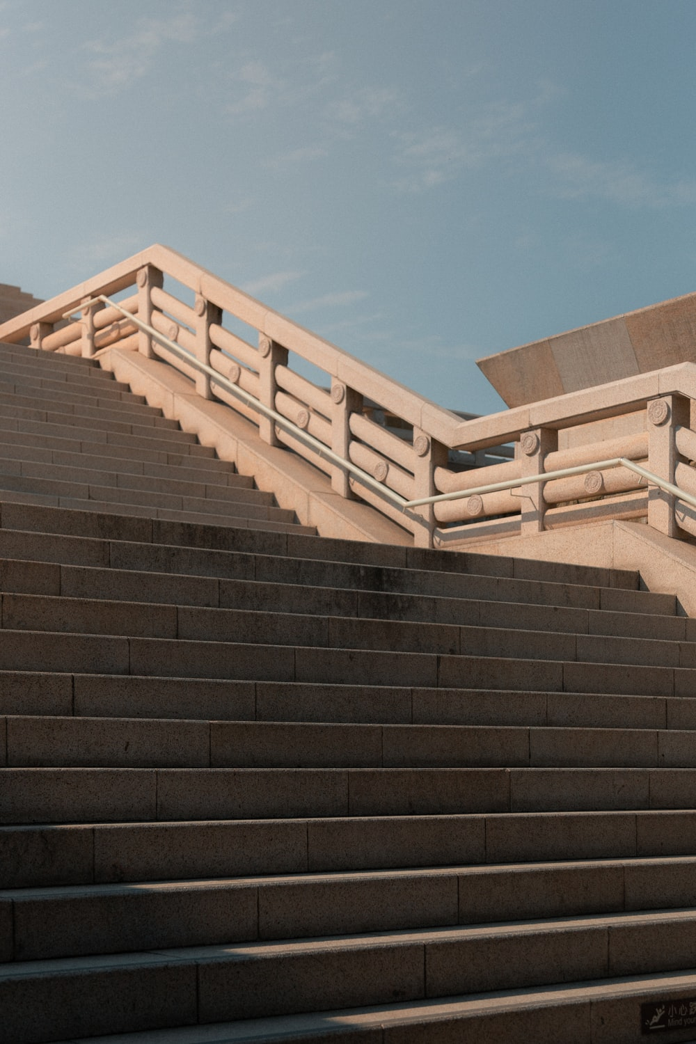gray concrete stairs]