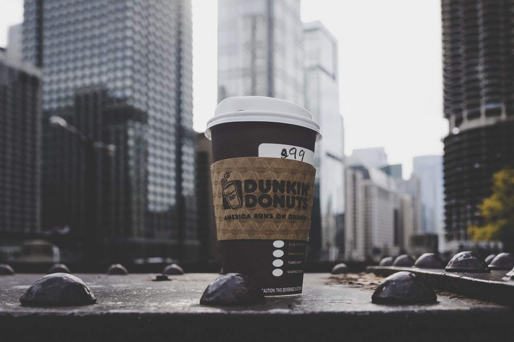 Dunkin Donuts plastic cup
