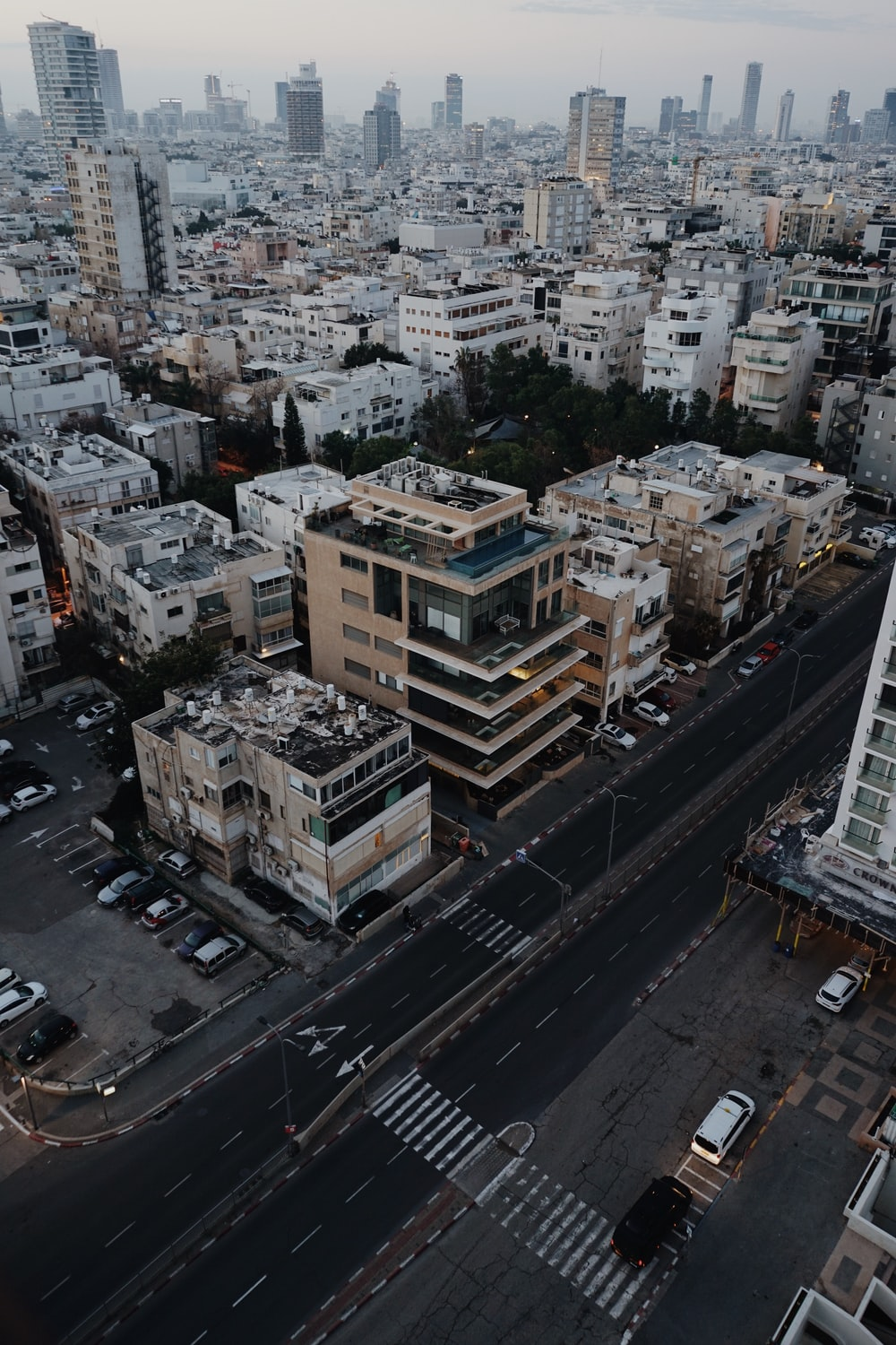 aerial photo of highrise buildings