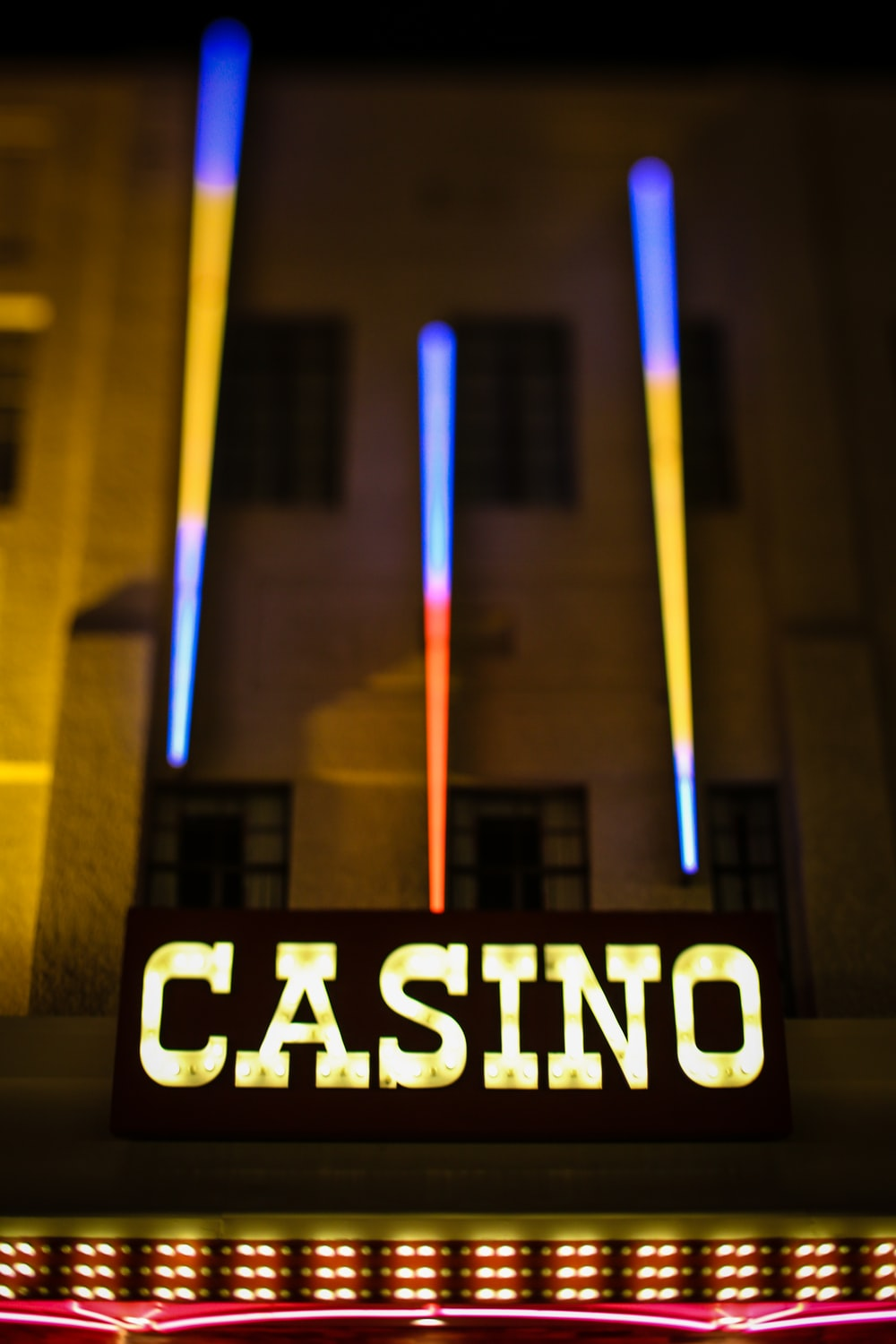 yellow casino neon light