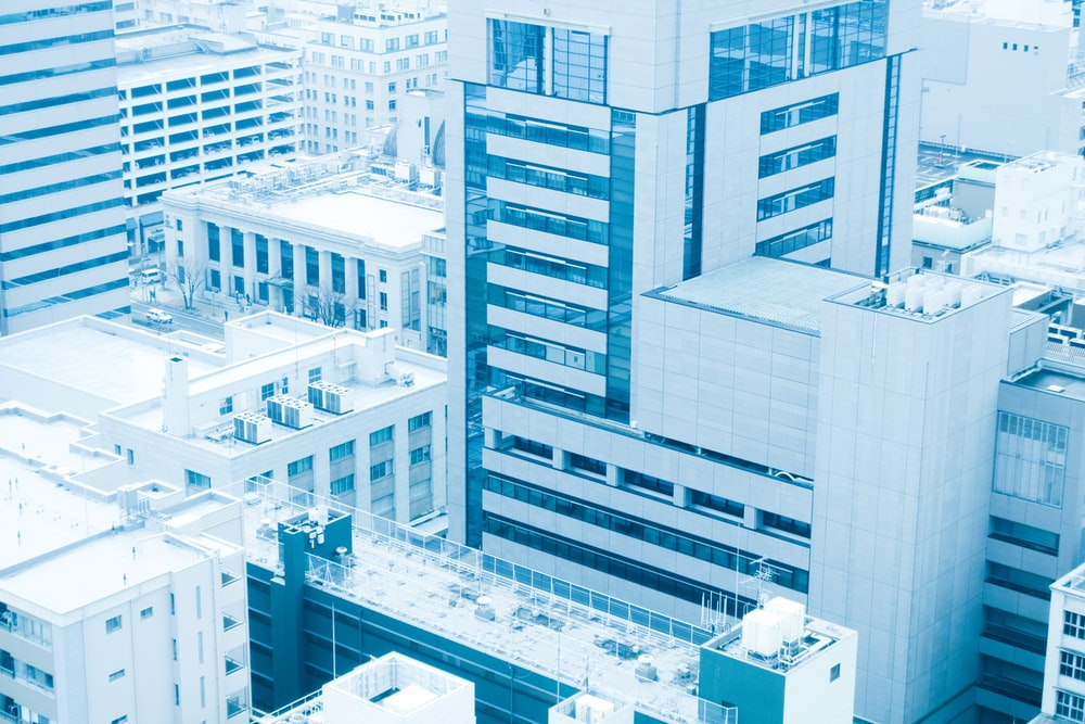 aerial photography of highrise buildings