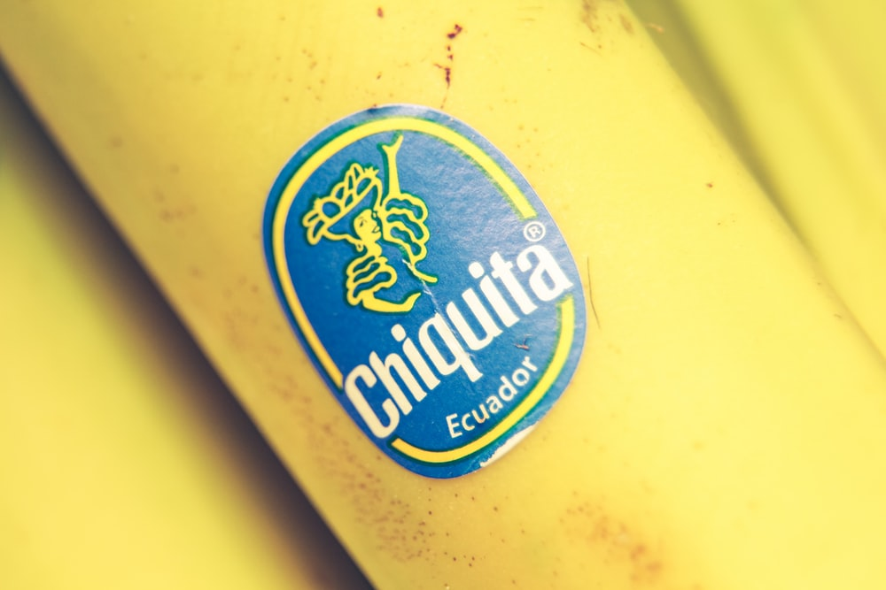 yellow Chiquita Ecuador labeled bottle