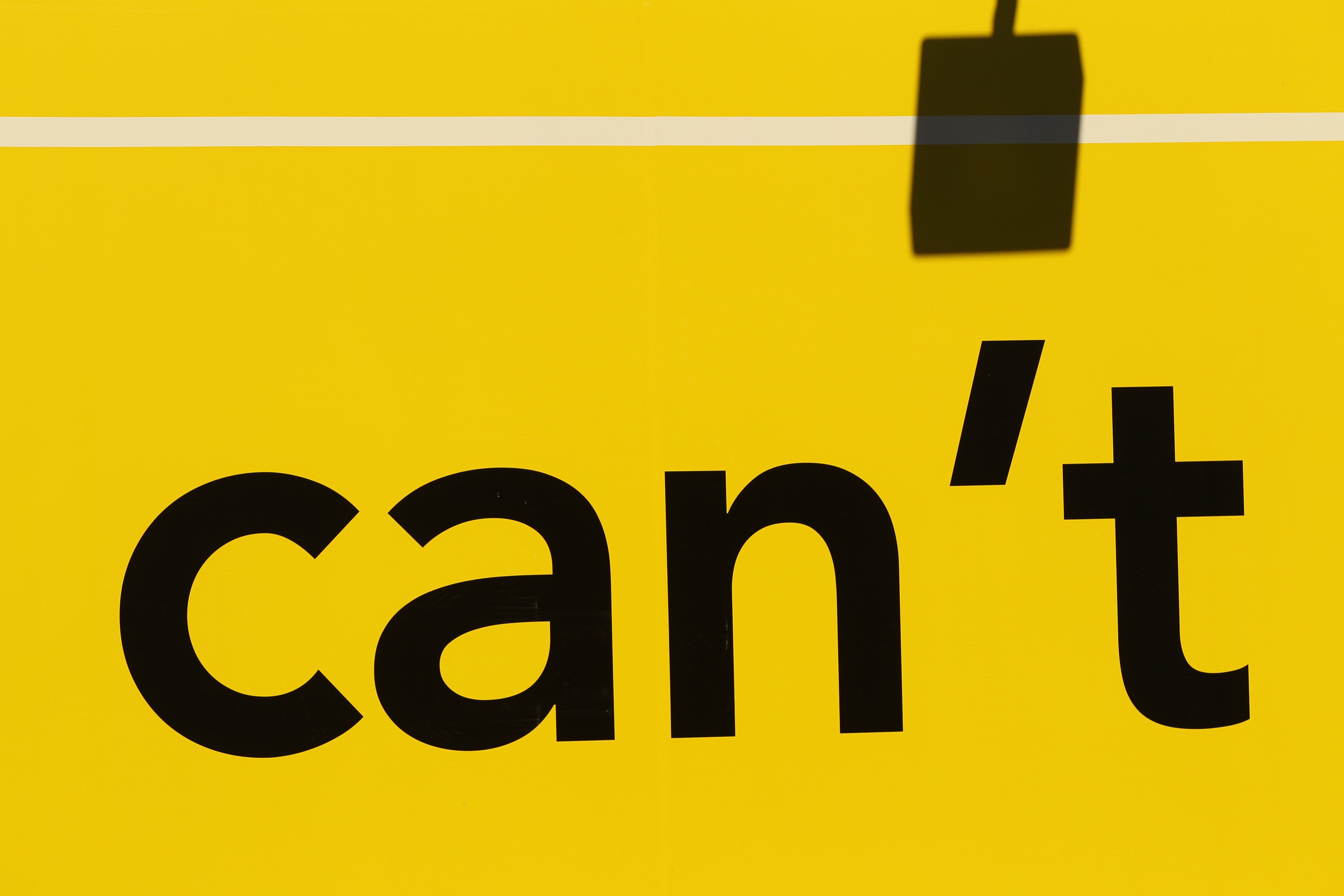 """can't"" printed text"