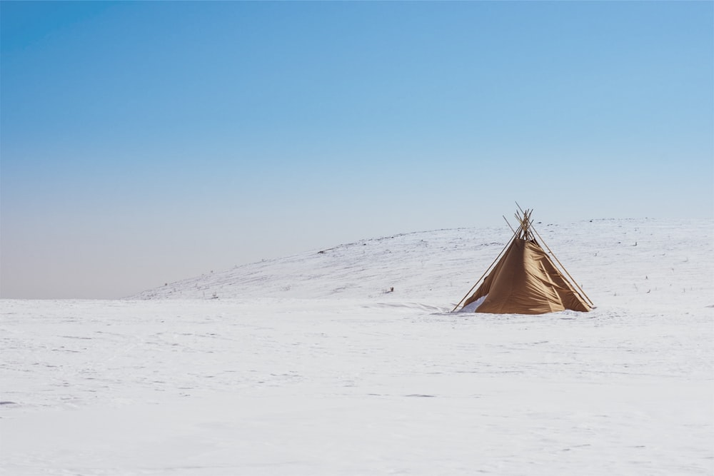 brown teepee tent