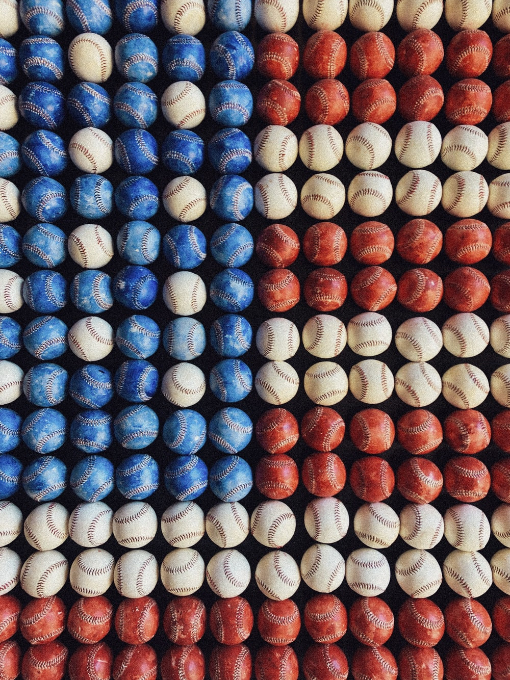 assorted-colored baseball decors