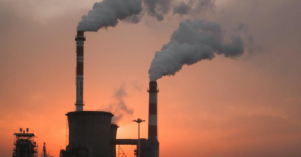 factory producing smokes