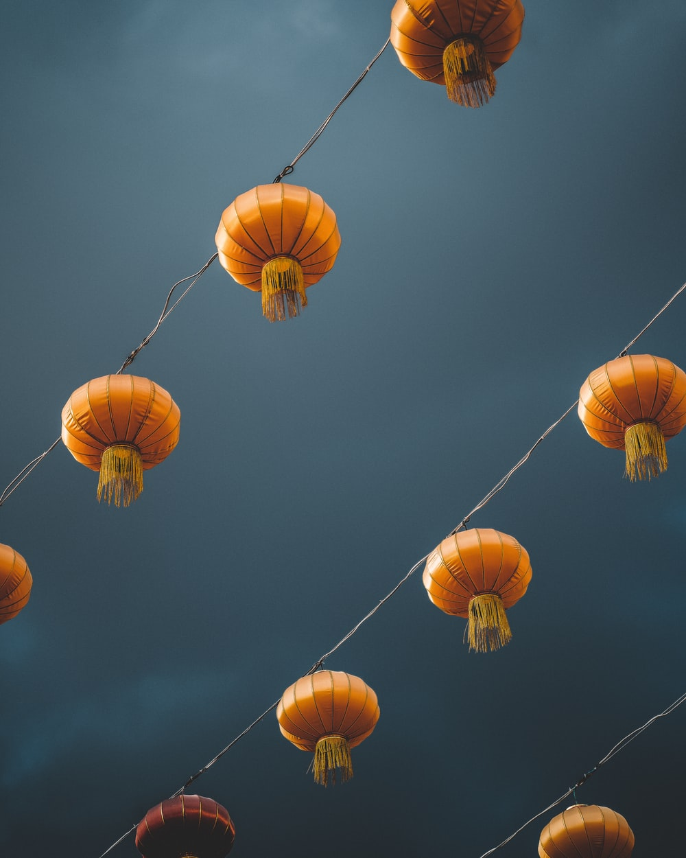 low-angle photography of lantern