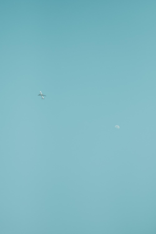plane on sky at daytime