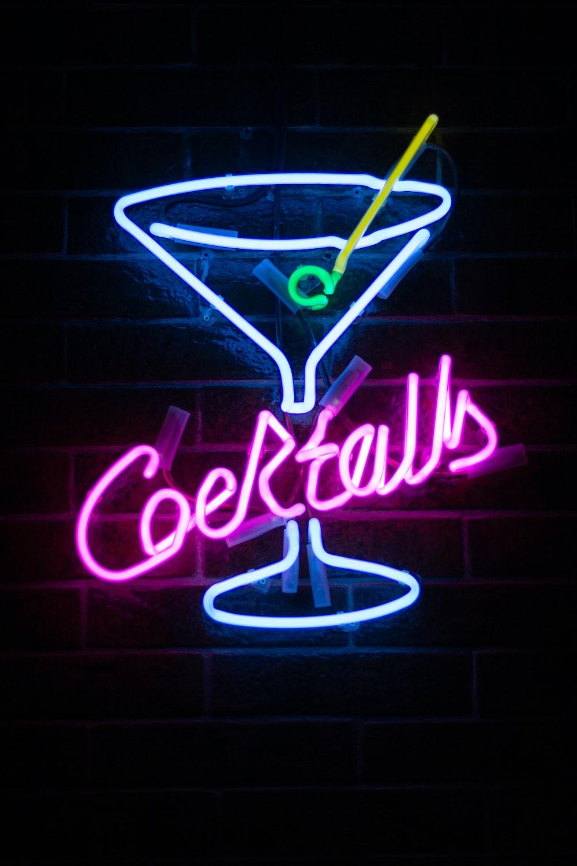 Cocktails LED signage