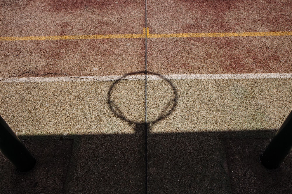 shadow of basketball ring and board