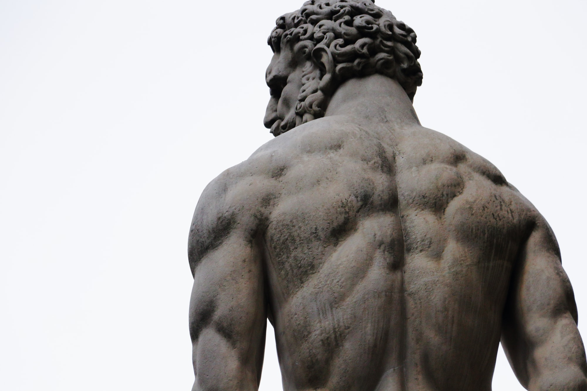 Back of Hercules in main square in Florence, Italy.