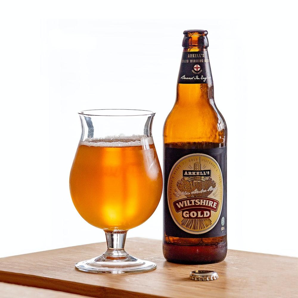 Wiltshire Gold beer bottle