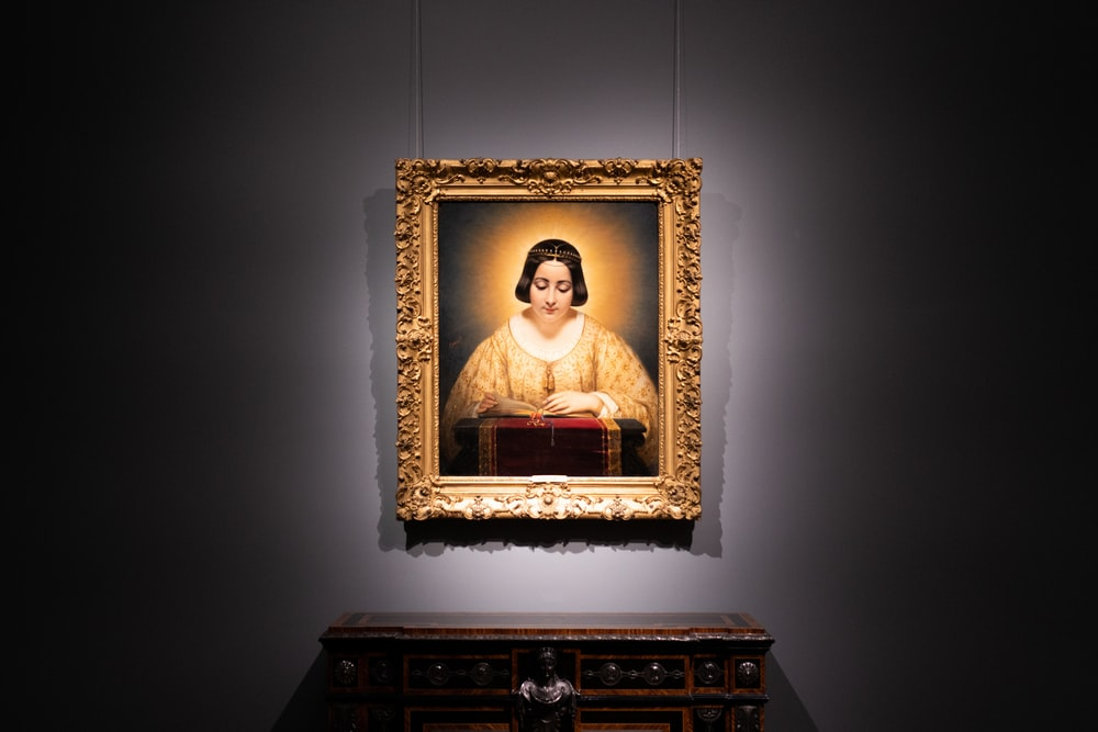 Religious woman portrait photo wall decor